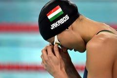 Zsuzsanna JAKABOS HUN. Hong Kong, China - Oct 29, 2016.  Zsuzsanna JAKABOS HUN at the start of the Women`s Freestyle 800m Final. FINA Swimming World Cup Stock Image