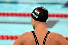 Zsuzsanna JAKABOS HUN. Hong Kong, China - Oct 29, 2016.  Zsuzsanna JAKABOS HUN at the start of the Women`s Freestyle 800m Final. FINA Swimming World Cup Stock Photography