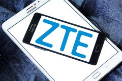 ZTE Corporation logo. Logo of ZTE Corporation on samsung mobile. ZTE, is a Chinese multinational telecommunications equipment and systems company Stock Photo