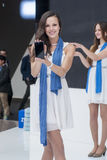 ZTE MODEL, MOBILE WORLD CONGRESS 2014 Royalty Free Stock Image