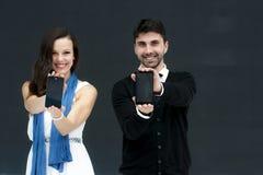ZTE-MODELLE, BEWEGLICHER WELTkongreß 2014 Lizenzfreie Stockfotos