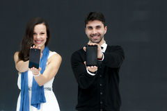 ZTE MODELS, MOBILE WORLD CONGRESS 2014 Royalty Free Stock Photos