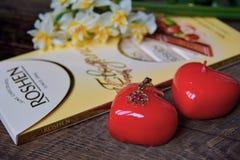 Zu aller Liebe und zu Glück! Glücklicher Valentinstag! Stockbild