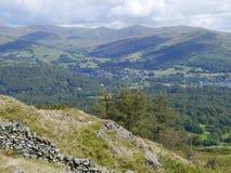 Zu Ambleside unten schauen, See-Bezirk, England Stockbild