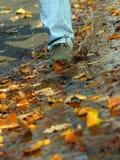 Zu auf Wasser laufen Stockfoto