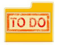 Zu die Datei-Shows tun, die Aufgaben organisieren und planen Lizenzfreies Stockbild