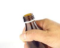 Zu eine Flasche fangen Stockfotografie