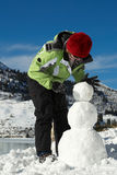 Zu einem Bau-Schneemann stockbilder