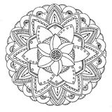 Zu färben Mandala Stockbilder