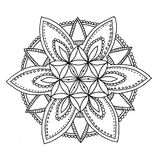 Zu färben Mandala Stockbild