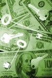 Zu finanzieren Tasten Lizenzfreies Stockfoto