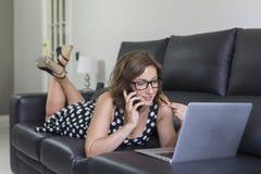 Zu Hause arbeiten Lizenzfreies Stockbild
