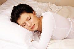 Zu Hause schlafen Stockfotos