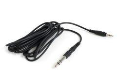 Zu heben Kabelverbindungsstückministeckfassung (3,5mm bis 6,3mm) Lizenzfreies Stockfoto