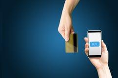 Zu im Online-Shop-Kredit kaufen Stockfotografie
