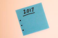 Zu Liste für das neue Jahr im Blau tun Stockbild