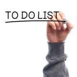 Zu Liste tun Lizenzfreies Stockbild