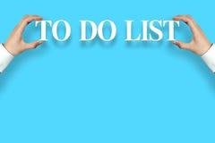 Zu Liste tun Lizenzfreie Stockbilder