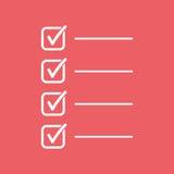 zu Listenikone tun Checkliste, Aufgabenlisten-Vektorillustration im fla Stockbilder