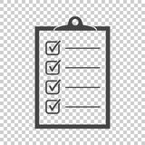 zu Listenikone tun Checkliste, Aufgabenlisten-Vektorillustration im fla Lizenzfreie Stockfotos