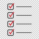 zu Listenikone tun Checkliste, Aufgabenlisten-Vektorillustration im fla Lizenzfreie Stockfotografie