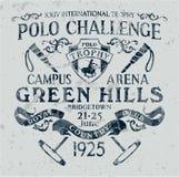 Zu Pferde Polosportherausforderung lizenzfreie abbildung