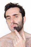 Zu rasieren oder nicht rasieren Stockbild