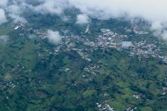 Zu San Jose fliegen, Costa Rica stockfotos