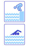 Zu schwimmen und beginnen Lizenzfreies Stockfoto