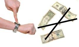 Zu spät kein Geld Stockfotos