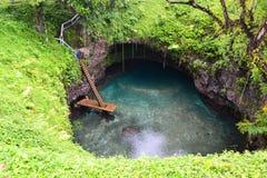 Zu Sua Trench in Samoa Stockfotografie