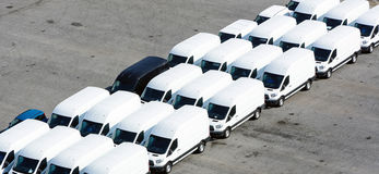 Zu transportieren Packwagen Stockbild