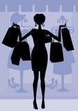 Zu viel Einkaufen! Stockbild