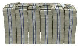 Zu viel Geld. Sehr großer Stapel der US-Dollars Stockbilder