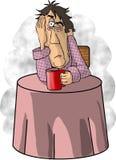 Zu viel Kaffee stock abbildung