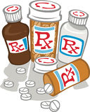 Zu viel Medizin lizenzfreie stockfotos