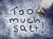 Zu viel Salz Stockbilder