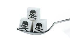 Zu viel Zucker ist schädlich stockbilder