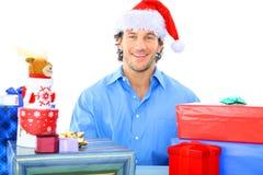 Zu viele Geschenke stockfoto