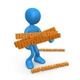 Zu viele Informationen Lizenzfreies Stockfoto