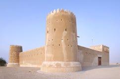 Zubarah堡垒卡塔尔,从南部的一张视图 库存图片