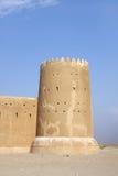 Zubarah堡垒,卡塔尔南部的塔  免版税库存照片