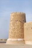 Zubarah堡垒,卡塔尔美丽的西部塔  库存图片