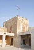 Zubarah堡垒,卡塔尔长方形东部塔  免版税图库摄影