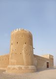 Southern tower & the south eastern wall of the  Zubarah fort, Qatar Stock Photos