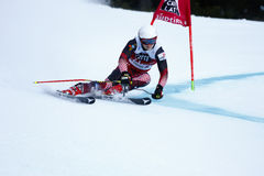 ZUBCIC Filip in Audi Fis Alpine Skiing World-Kop Men's Reuzes Royalty-vrije Stock Afbeelding