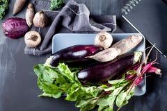 Zubereitung der gesunden Nahrung Stockbild