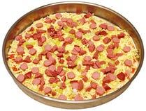 Zubereitung der nach Hause gebildeten Pizza Stockfotos