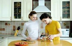 Zubereitung der Nahrung Stockbild