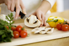 Zubereitung der Nahrung Lizenzfreies Stockfoto